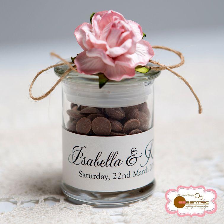 Cookie Jar Wedding Favor Filled With Milk Choc Buds Essentric
