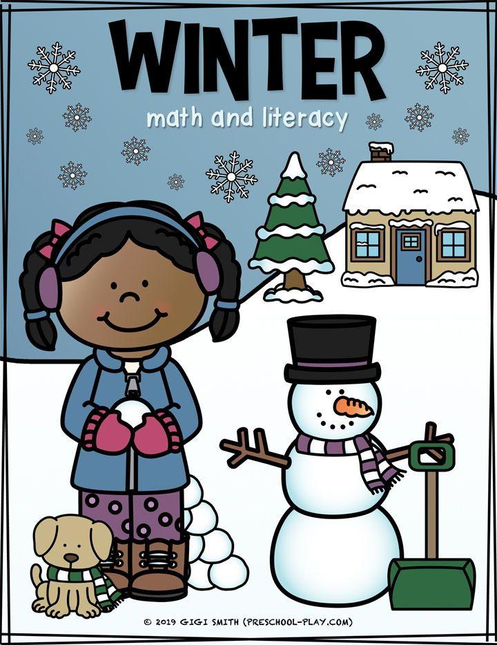 Winter Math and Literacy Activities | Preschool Play Printable Winter Math and Literacy activities