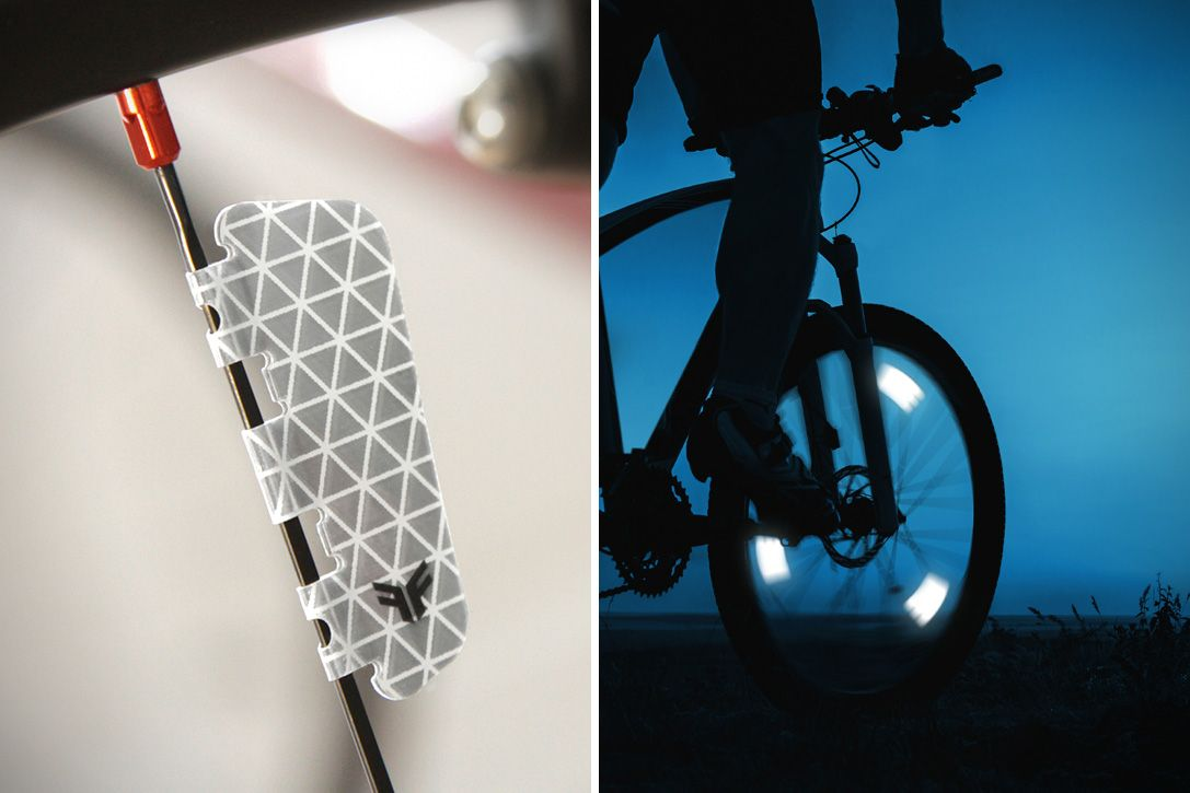 Round Reflector Bicycle Bike Motorcycle Safety Reflective Night Riding Plastic