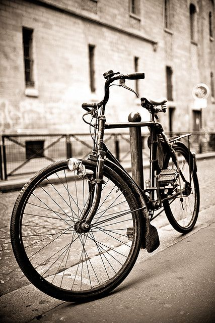 Vintage Bicycle Paris Street Bicycle Bicycle Photography Bike Photography