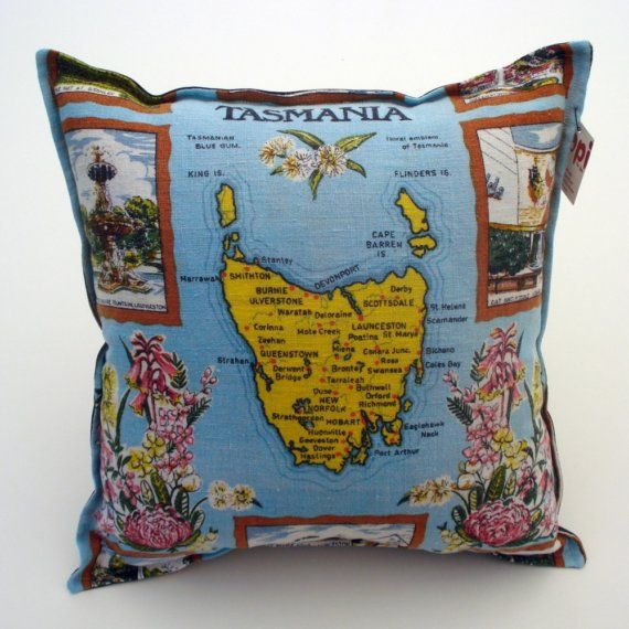 Show Me Your Map Of Tassie Cafe Tea Towels Tasmania Cushions - Show-us-your-map-of-tassie