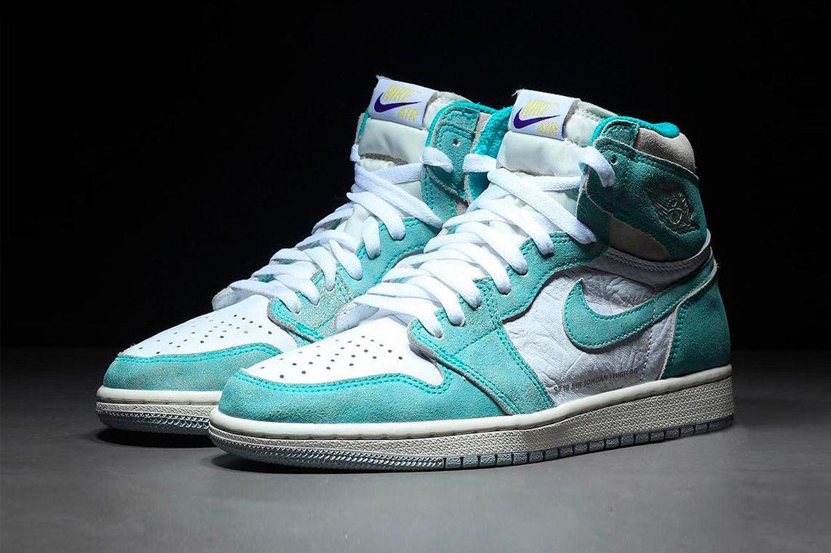 807df62fa4c6fb Air Jordan 1 Turbo Green 2019 Release Info kicks footwear oldschool Chicago  Nike Air swoosh Michael Jordan bulls 23 555088 311 grey gray sail white  purple ...