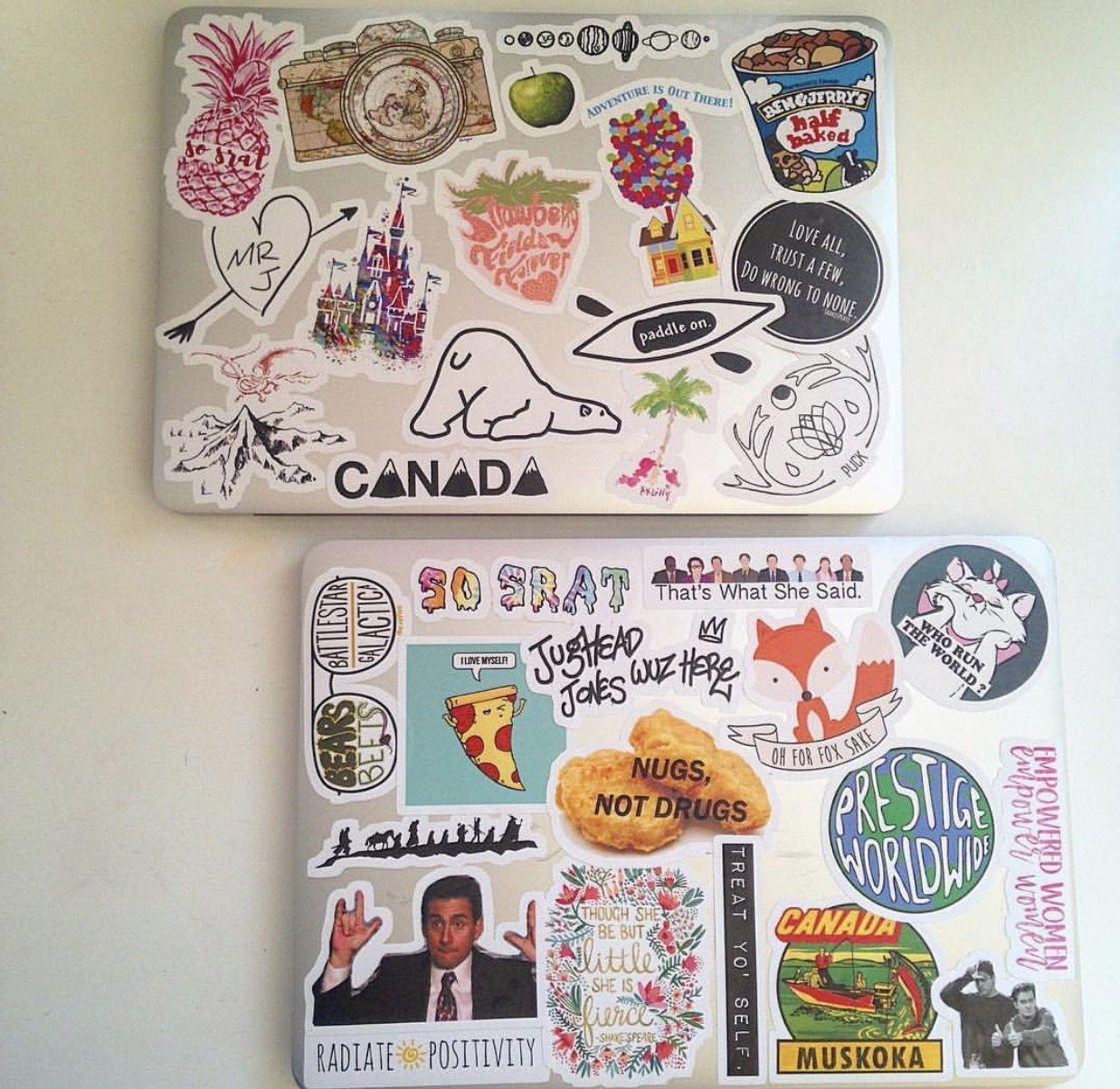 Pin maverette17 ig maverette16 ❁ personalized laptop case stickers