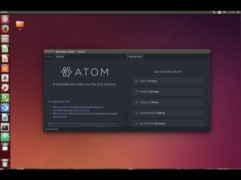 How To Install Atom Editor In Ubuntu Linux Ubuntu Operating