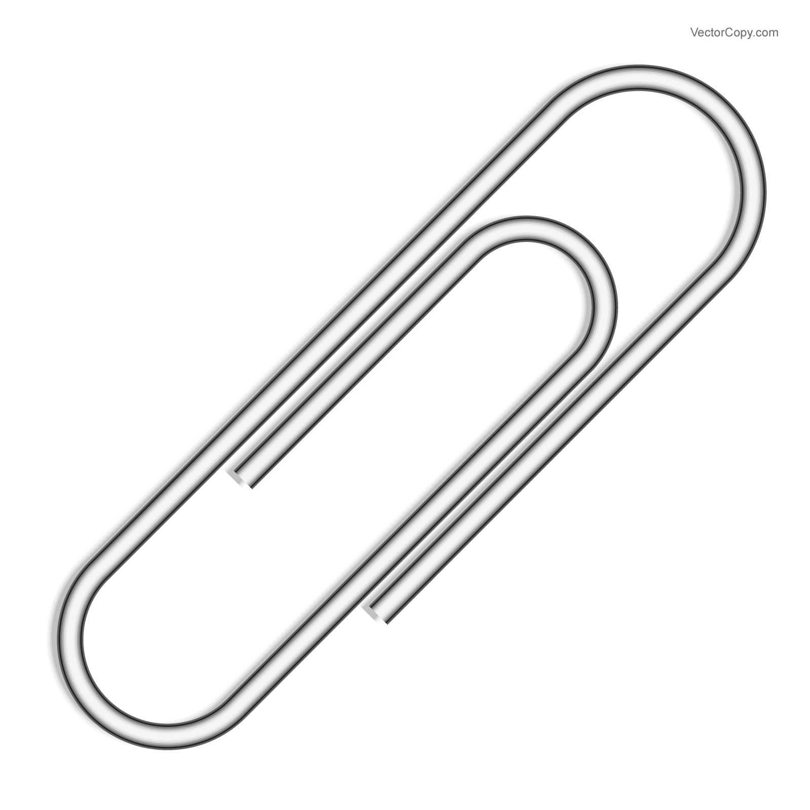 silver paper clip free vector vector objects vector