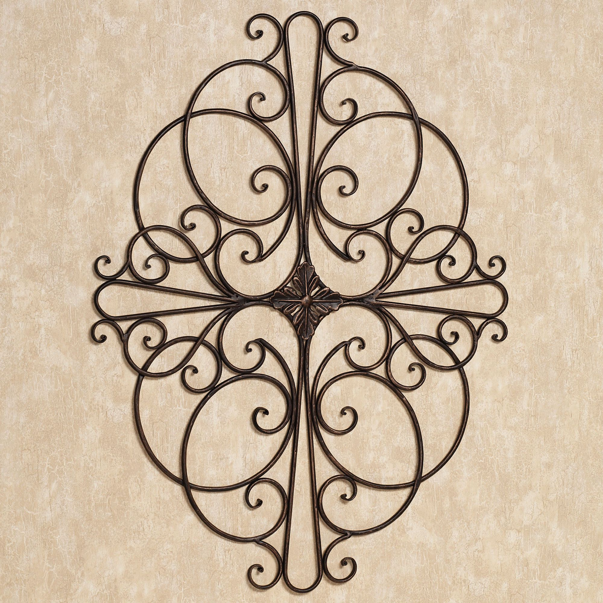 Savino Indoor Outdoor Wrought Iron Wall Grille -- Touch of Class -- $44.99 -- Wall accent will ...