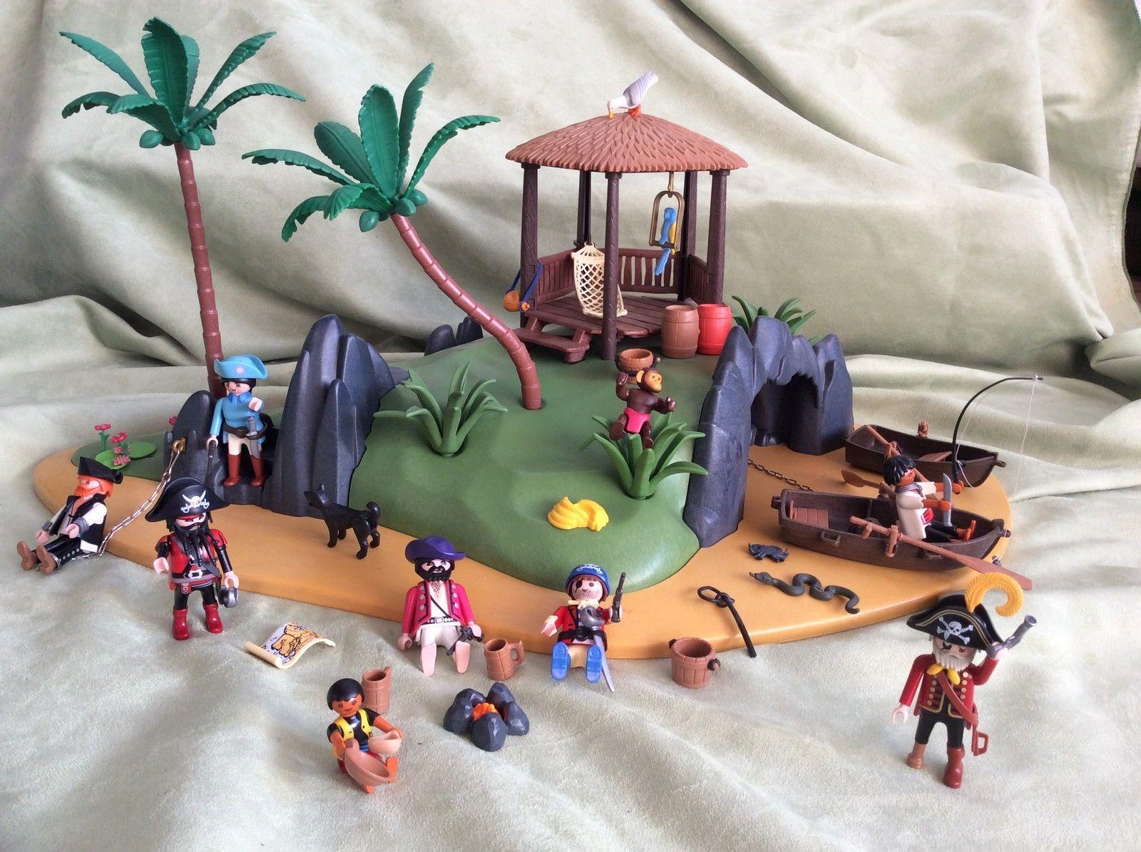 Playmobil Insel Piraten groß mit viel div. Zubehör   eBay ...