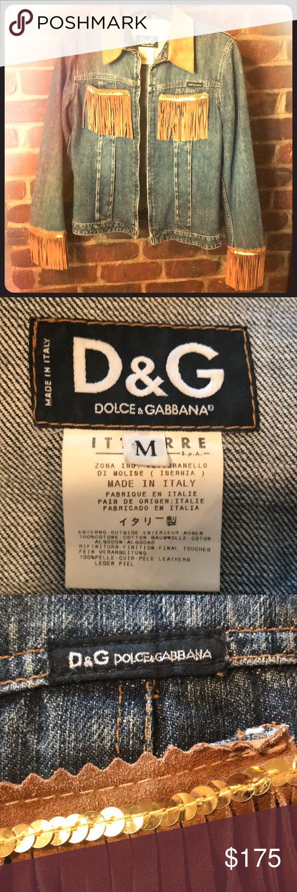 Dolce And Gabbana Jean Jacket Dolce And Gabbana Jeans Dolce And Gabbana Dolce Gabbana Jacket