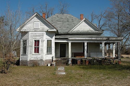 Doles GA Worth County Vernacular Farmhouse Rural Southern Architecture Front Porch Rental Pictures Picture Photo Copyright