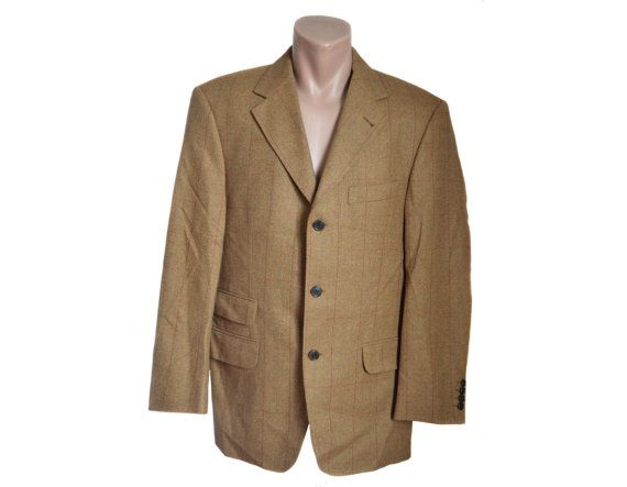 ac7df304 Vintage MARIO ZEGNA men brown ticket pocket blazer jacket wool ...