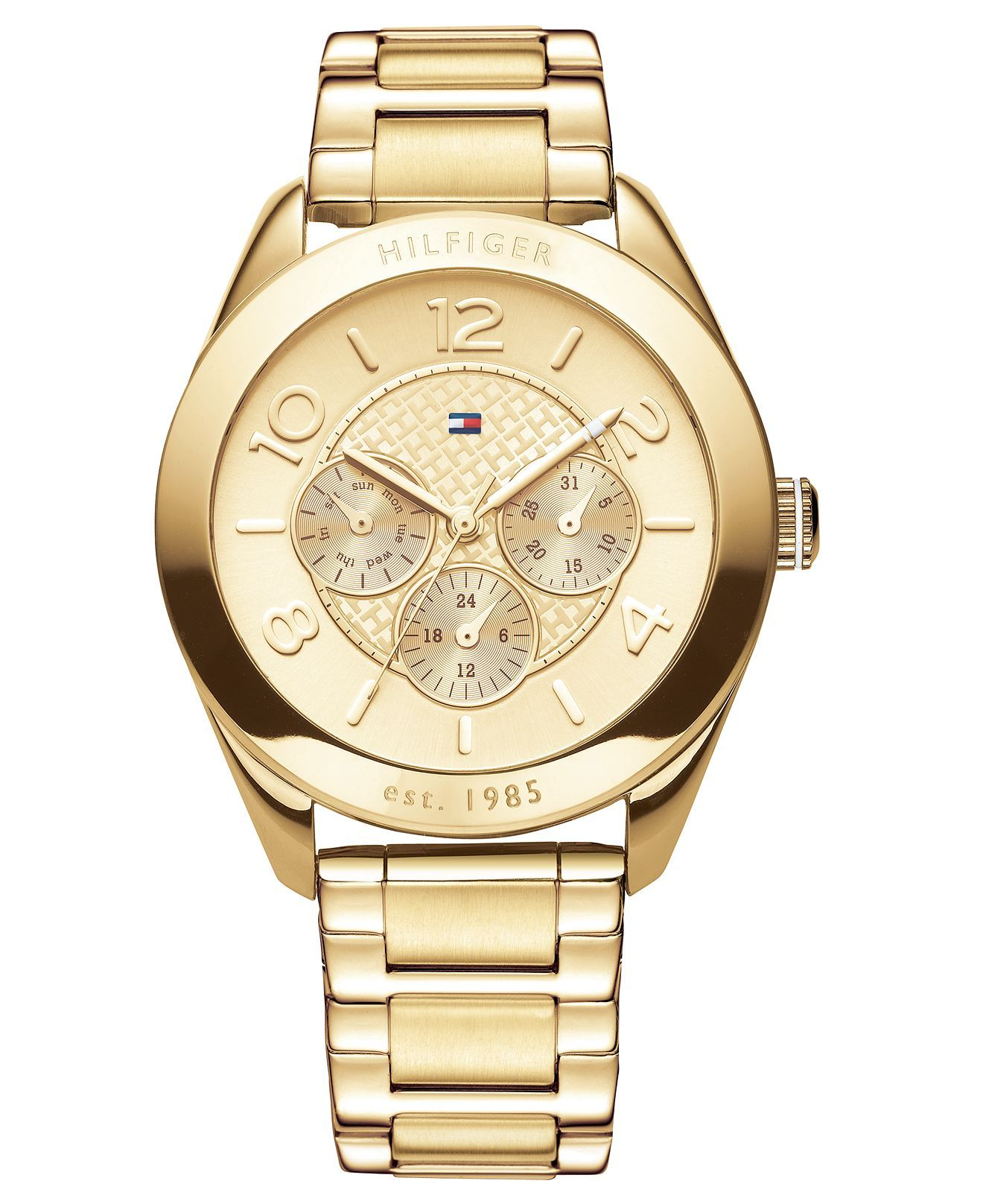 Tommy Hilfiger Gold Stainless Steel Chronograph (40mm