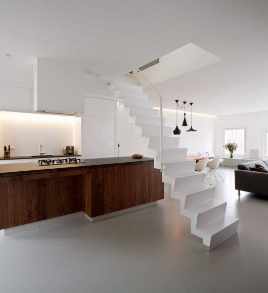 22 Beautiful Kitchen Design For Loft Apartment: Apartment-singel-08 - So Crisp And Clean!