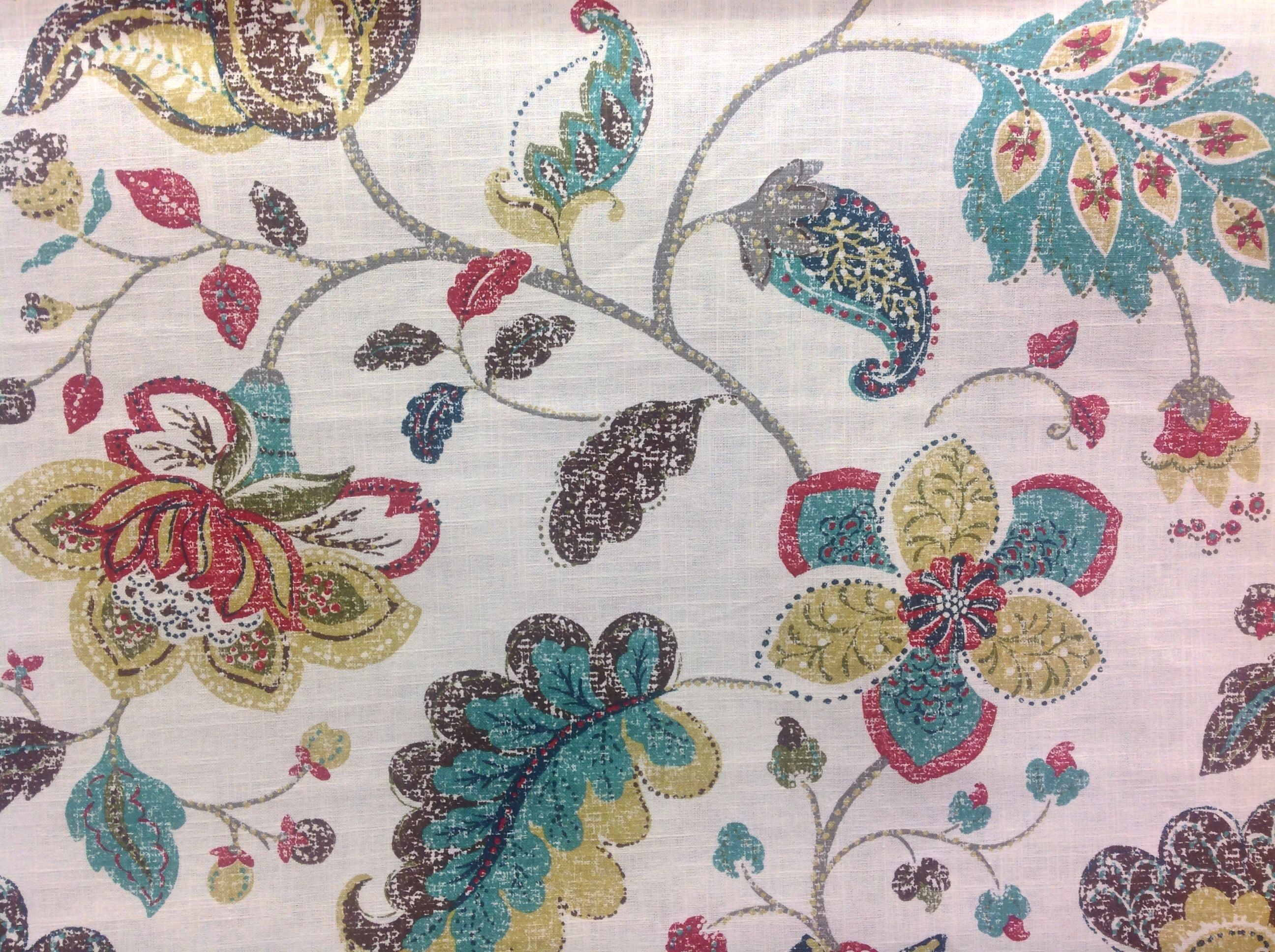 Robert Allen Spring Mix Pomegranate  Fabric | Furniture | Drapery | Hardware at Decorating Mart 770-424-3025