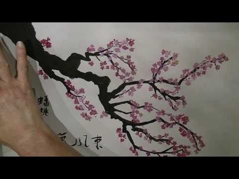 Tanja Bell How To Paint Cherry Blossom Tree Painting Tutorial Lesson Technique Pink White Blossom Cherry Blossom Art Cherry Blossom Painting Diy Tree Painting
