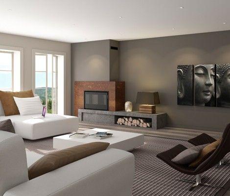 Chimeneas modernas kilimanjaro con recuperador de calor de - Muebles de salon con chimenea integrada ...