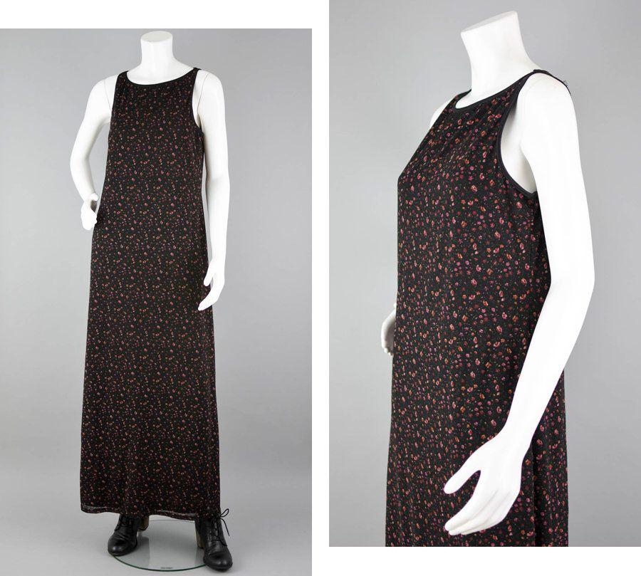 cd18262b8d304 90s Floral Maxi Dress Vintage