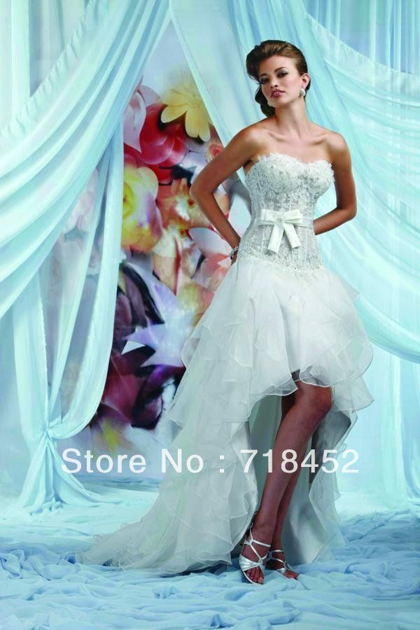 Magnificent Short Front Long Back Wedding Dress Photo - Wedding ...