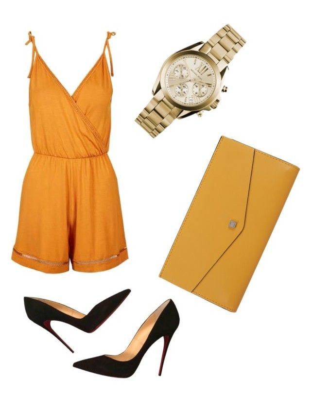 """""""Not for you booboo"""" by chookie1603 on Polyvore featuring Topshop, Christian Louboutin, Michael Kors and Lodis"""