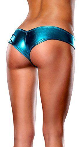 Pin On Icsth Women S Hot Sex Metallic Micro Shorts Thong Panties