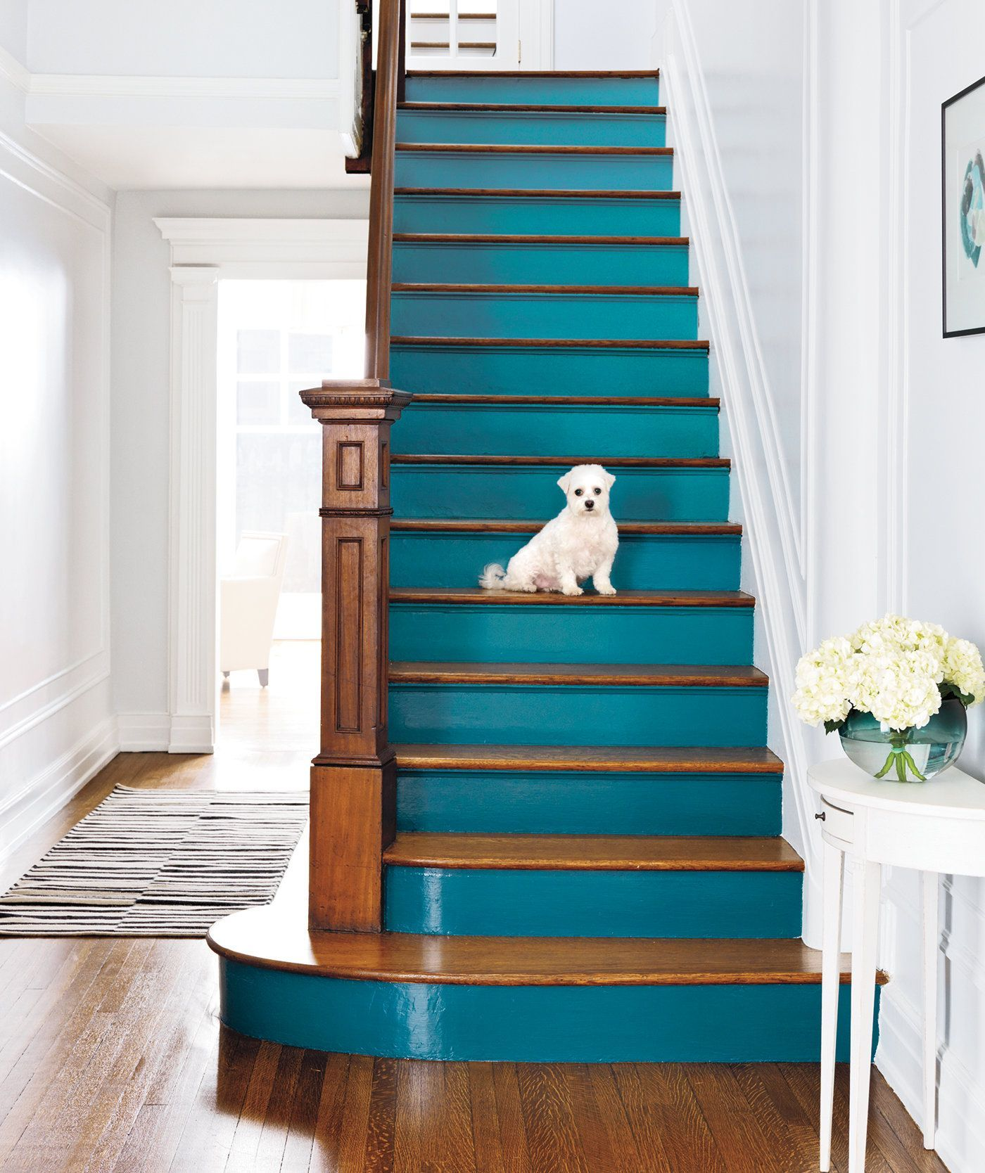 21 Attractive Painted Stairs Ideas Pictures: Pin On There's No Place Like Home