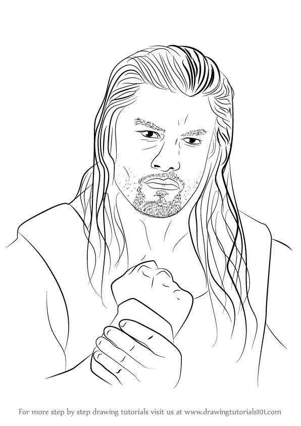 How To Draw Roman Reigns Drawingtutorials101 Com Roman Reigns Roman Reigns Drawing Roman