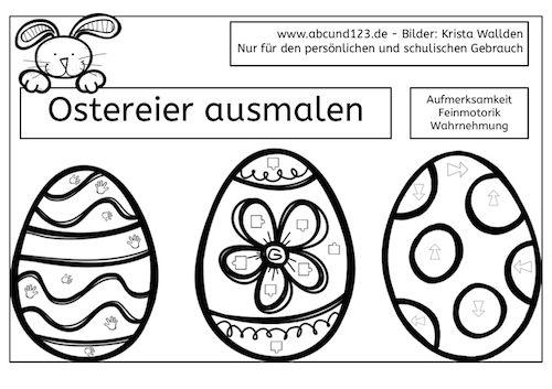 ostereier anmalen ostern malen malen nach symbolen wahrnehmung legasthenie dyskalkulie. Black Bedroom Furniture Sets. Home Design Ideas