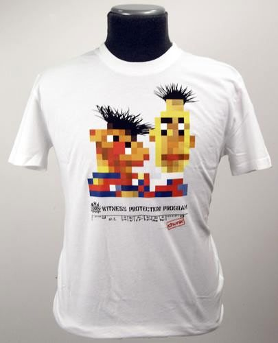 965bd4bf56f9 bert and ernie witness protection t-shirt. | pop culture geekery ...