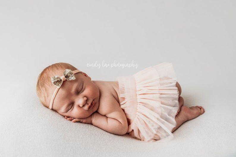 Photo of Grow with me tutu skirt for baby girl. Tutu skit for newborn photo shoot