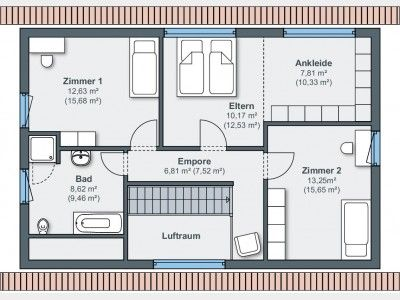 Grundriss DG Weber haus, Haus planung, Einfamilienhaus