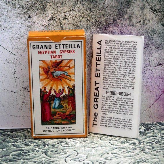 Photo of 1977 Grand Etteilla Tarot. Egyptian Gypsies Tarot. Grimaud. Complete. Tarot. Vintage Tarot. Fortune Cards. Fortune Telling. Tarot Deck
