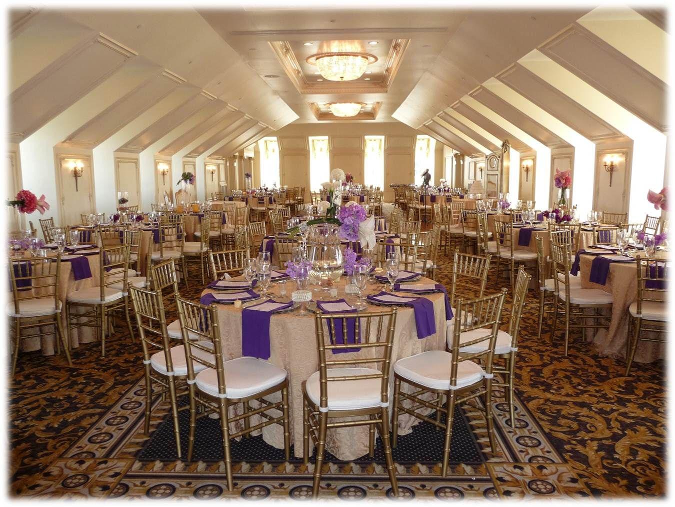 Purple & Gold....The Hall & Gardens at Landmark Wedding/Reception ...