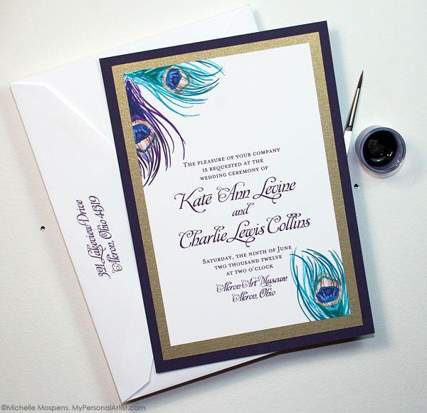Wedding Invitations Ideas Pinterest: Pin Unique Peacock Wedding Ideas