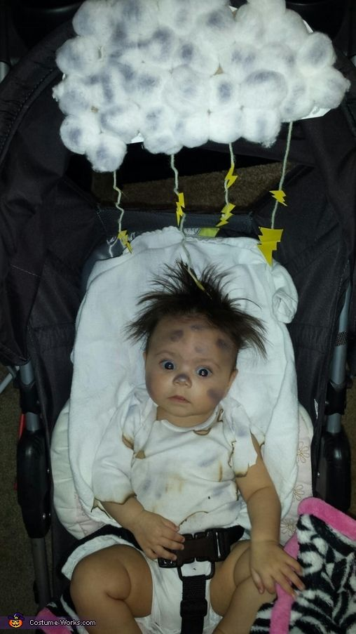 monika this is my 4 month old daughter she has a lot of hair that naturally stands up and one day she looked like she had been electrocuted which made me