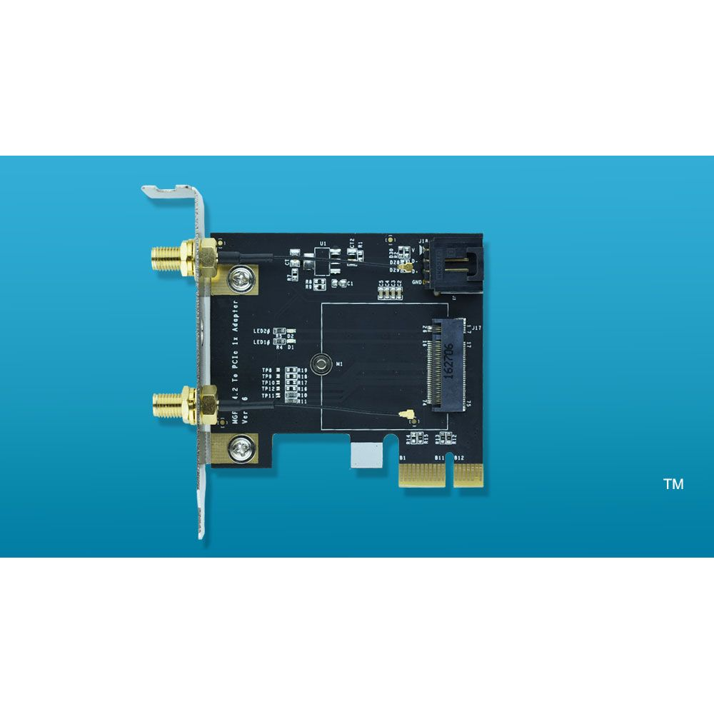 NGFF M 2 Key A To PCIe 1x WiFi card Adapter M2 to PCI-E For
