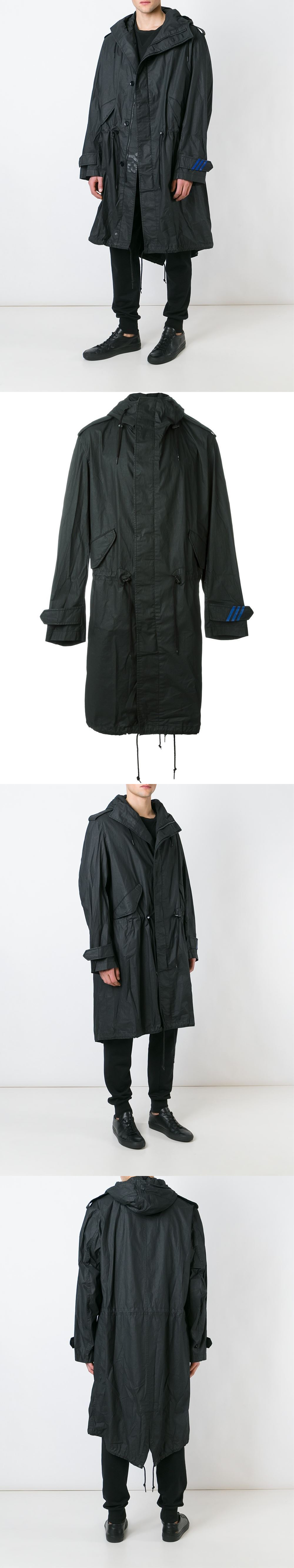 202e59d2d65c3 Outerwear Coats and Jackets 175771  Y-3 Yohji Yamamoto M Fishtail Prka  Ap2374 Mens