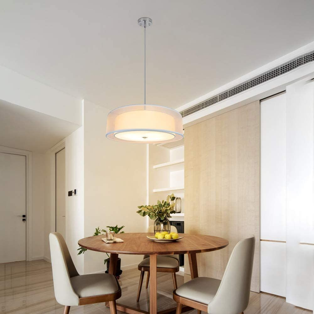 Double Drum Pendant Light Entry Living Room Light Fixtures Flush Mount Ceiling Lights