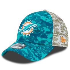 timeless design 3db8a 87414 Men s Miami Dolphins New Era Aqua 2015 Salute to Service On-Field 39THIRTY  Flex Hat