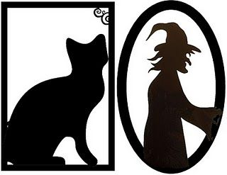graphic regarding Free Printable Halloween Silhouettes named Framed Creepy Silhouette Decorations (No cost Halloween
