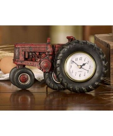 Farmall tractor desk clock for the home desk clock for International harvester wall decor