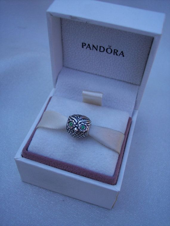 Authentic Pandora Wise Owl Dark Green CZ Bracelet by JEWELSELAGANT, $35.00
