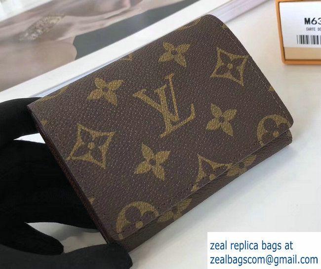 Louis Vuitton Enveloppe Carte De Visite M63801 Monogram Canvas 2017