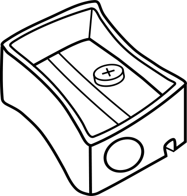 Pencil Sharpener Bw Back To School Art Clip Art Alphabet Coloring Pages