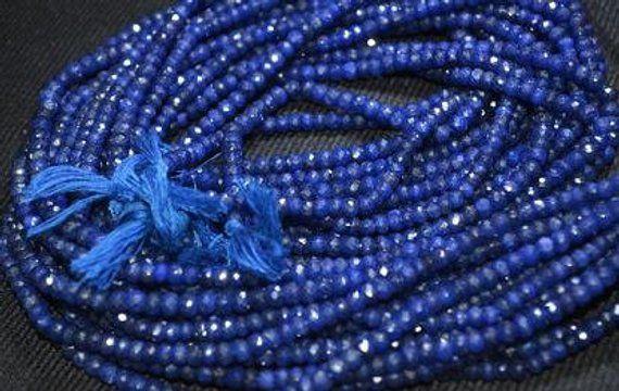 "AAA+ 6mm Natural Sri Lanka Sapphire Round Loose Gemstone Beads 15/"""