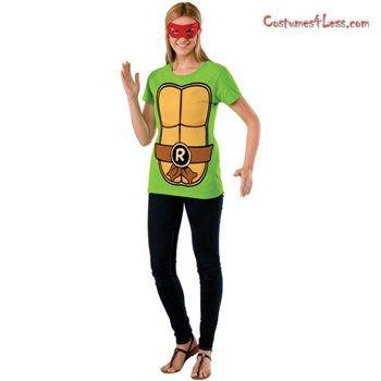1edd16f1 Teenage Mutant Ninja Turtles Raphael Women T-Shirt Kit at Costumes4Less.com