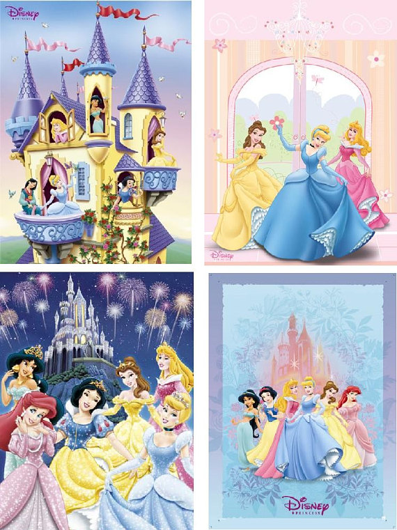 Disney Princess Cinderella And Characters Sewing Cotton Quilting Fabric Panel