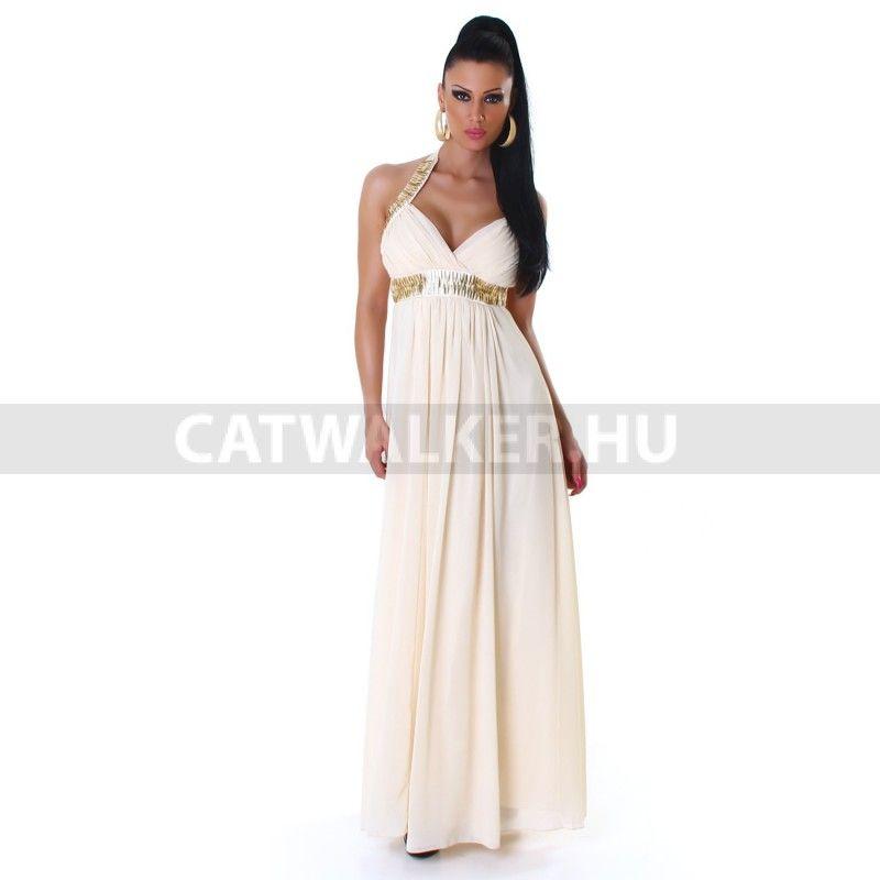 c520516d4a Alkalmi ruha JL-5020, gyönyörű - hosszú, bézs | rucik | Formal ...