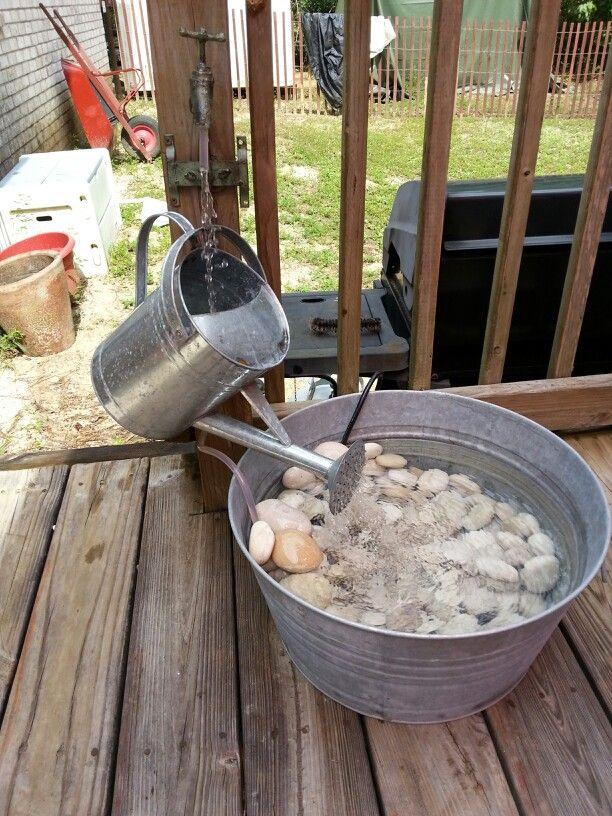 My homemade water fountain | Homemade water fountains, Diy ...