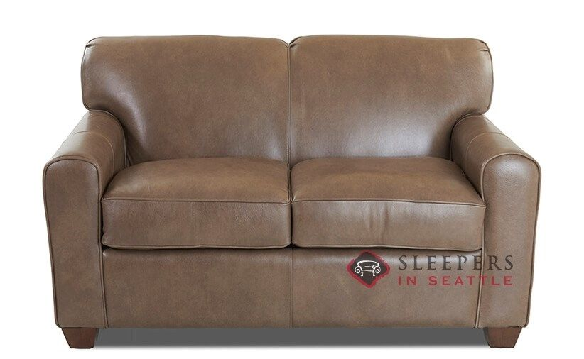 Savvy Zurich Leather Sleeper Sofa Twin