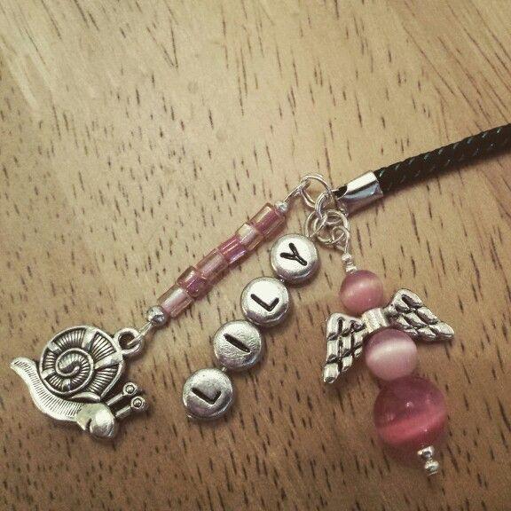 Pink angel bag/phone charm