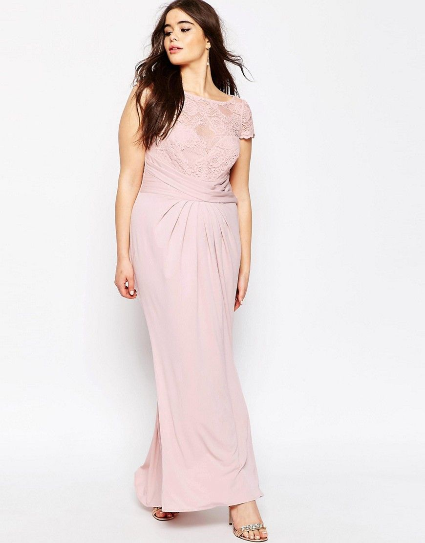 e9afcc9b87e Image 4 of ASOS CURVE WEDDING Pleated Maxi Dress With Lace Top